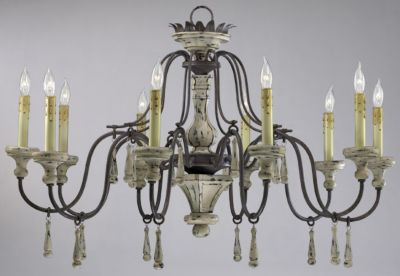 Provence 10-Lamp Chandelier