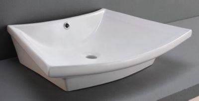 Arlo Fan-Shaped Ceramic Vessel with Overflow