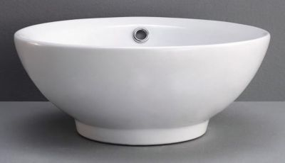 Gia Round Ceramic Vessel with Overflow