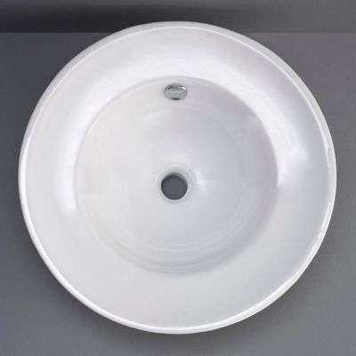 Onon Round Ceramic Vessel with Overflow