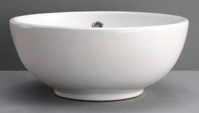Rica Round, Tapered Ceramic Vessel with Overflow
