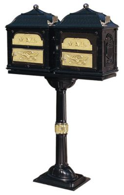 Classic Double Mount Mailbox - Black