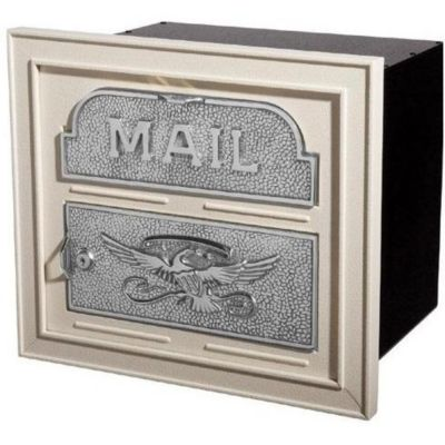 Classic Faceplate with Aluminum Storage Can - Almond & Satin Nickel Accents
