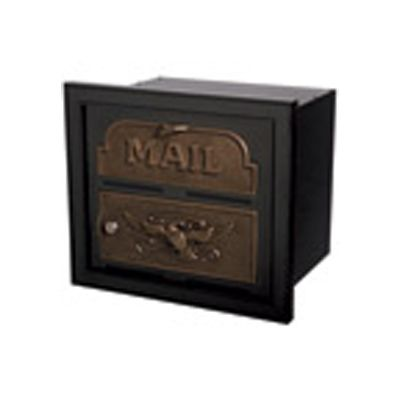 Classic Faceplate with Aluminum Storage Can - Black & Polished Brass Accents