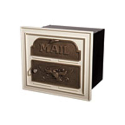 Classic Mailbox & Post - Almond with Antique Bronze Accents