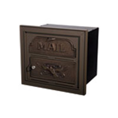 Classic Mailbox & Post - Bronze with Antique Bronze Accents