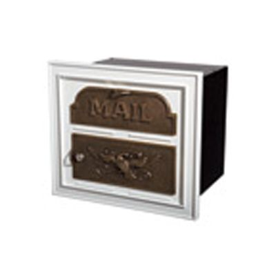 Classic Mailbox & Post - White with Antique Bronze Accents