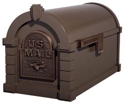 Eagle Keystone Series® Mailbox - Bronze with Antique Bronze