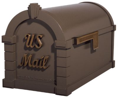 Signature Keystone Series® Mailbox - Bronze with Antique Bronze