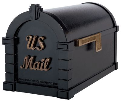 Signature Keystone Series® Mailbox - Black with Antique Bronze