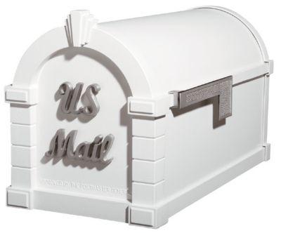 Signature Keystone Series® Mailbox - White with Satin Nickel