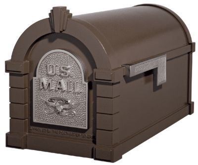 Eagle Keystone Series® Mailbox - Bronze with Satin Nickel