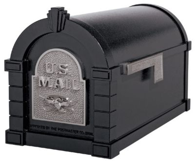 Eagle Keystone Series® Mailbox - Black with Satin Nickel