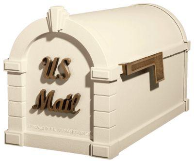 Signature Keystone Series® Mailbox - Almond with Antique Bronze