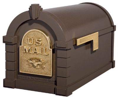 Eagle Keystone Series® Mailbox - Bronze with Polished Brass