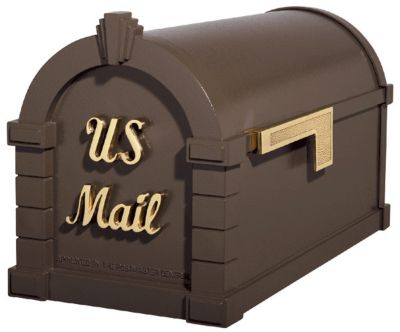 Signature Keystone Series® Mailbox - Bronze with Polished Brass