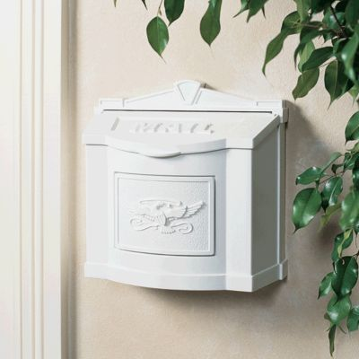 Wallmount Mailbox Eagle Design - White
