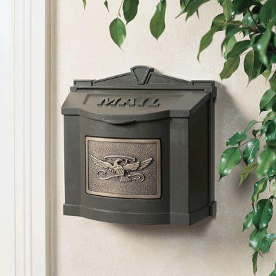 Wallmount Mailbox Eagle Design - Bronze with Antique Bronze