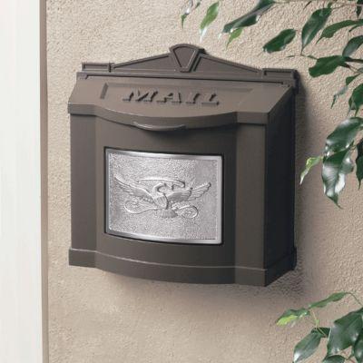 Wallmount Mailbox Eagle Design - Bronze with Satin Nickel