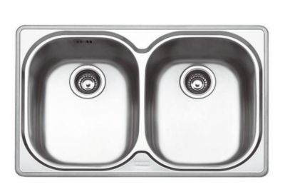 Compact™ Stainless Undermount Double-Bowl Kitchen Sink