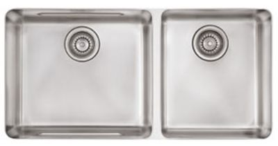 Kubus™ Stainless Undermount Double-Bowl Kitchen Sink