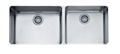 Kubus Stainless Steel Double Bowl Undermount Sink