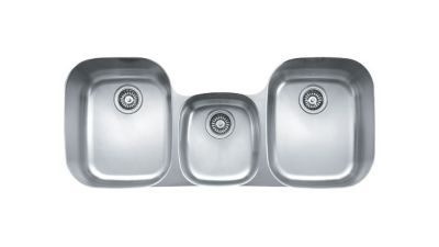 Regatta™ Stainless Undermount Triple-Bowl Kitchen Sink