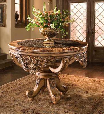 Dynasty Foyer Table with Bamboo Rings Top