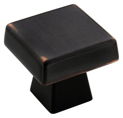 Blackrock 1-1/2'' Square Knob - Oil Rubbed Bronze