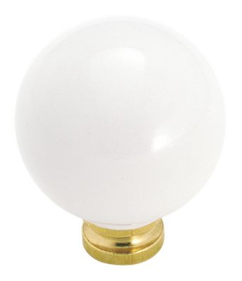 Allison™ Value Hardware Ceramic Knob - White Porcelain