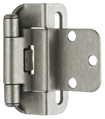 Self-Closing Partial Wrap Hinges with 3/8