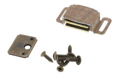 Magnetic Catch - Aluminum/ Wood Grain