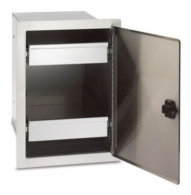 Legacy Stainless Steel Single Door with Dual Drawers