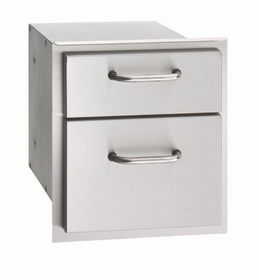 Select Stainless Steel Double Drawer