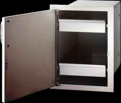 Select Single Stainless Steel Door with Dual Drawers & Left Door Hinge