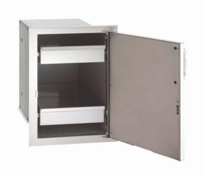Select Single Stainless Steel Door with Dual Drawers & Right Door Hinge