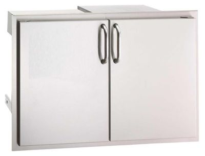 Select Stainless Steel Double Access Door with Dual Drawer & Trash Tray