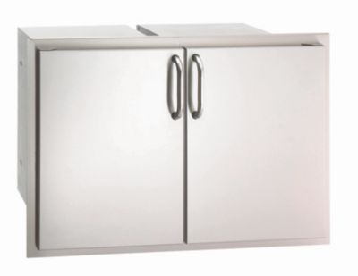 Select Stainless Steel Double Doors with 2 Dual Drawers