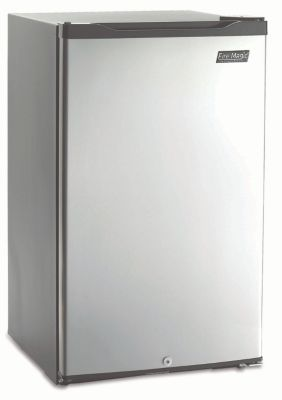 Below Counter Style 4.4 Cubic Foot Refrigerator with Lock & Reversible Door Hinge