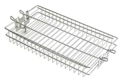 Flat Stainless Steel Rotisserie Basket