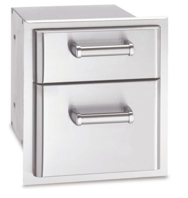 Premium Stainless Steel Double Drawer