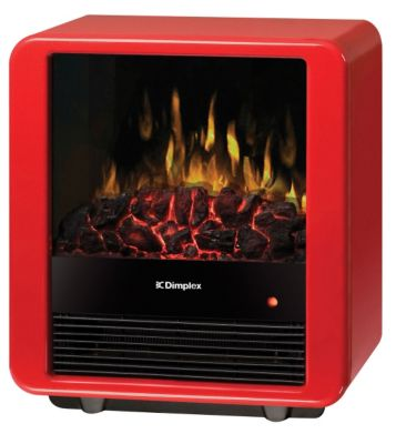 Mini Cube Compact Electric Stove - Gloss Red