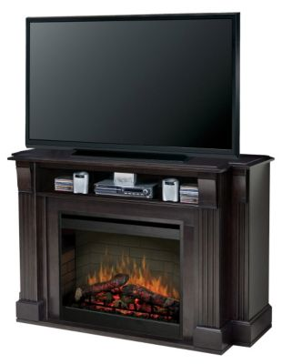 Langley Media Console with Electric Firebox - Espresso