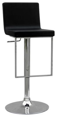 0351 Series Swivel & Adjustable Height Stool - Chrome with Black Upholstery