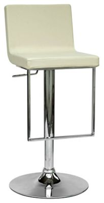 0351 Series Swivel & Adjustable Height Stool - Chrome with Crème Upholstery