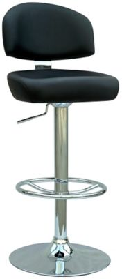 0362 Series Swivel & Adjustable Height Stool - Chrome with Black Upholstery