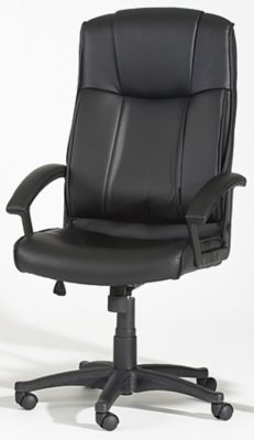 3776 Series High Back Multi-Adjustable Office Chair - Black with Black Upholstery