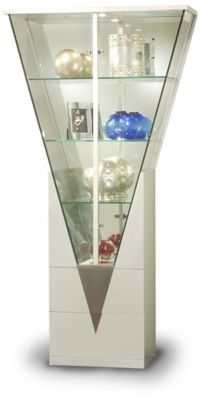 6625 Series Triangular Curio - Silver