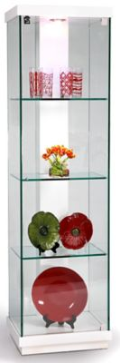 6633 Series Accent Glass Curio - White Gloss