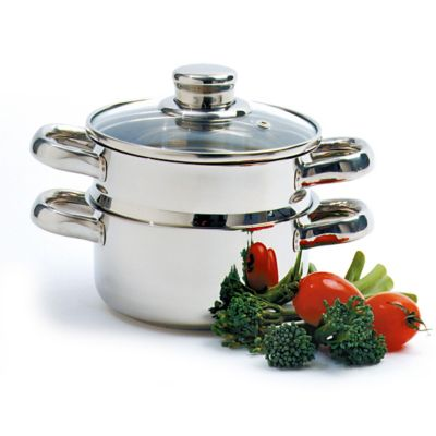 Stainless Steel Steamer/Cooker - 3 Piece Set